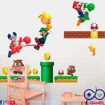 Vinilo Decorativo Para Cuarto De Super Mario Bros