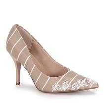 Sapato Scarpin Conforto Feminino Beira Rio - Bege