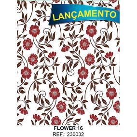 Papel Adesivo Contatc Flores Flower 16 - 45 Cm X 10 Metros