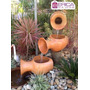 Jogo Vasos Ceramica Fonte Cascata Enfeite Decorativo Jardins