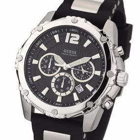 Reloj Guess W0167g1 Cronografo Acero 100m Agente Oficial