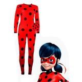 Fantasia Ladybug Infantil + Mascara E Ioiô