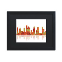 Houston, Texas Skyline Matted Framed Canvas Art By Marlene