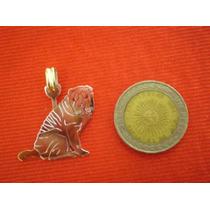 Shar Pei - Dije En Plata 925 - Oro 18k