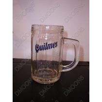Chop De Vidrio Macizo Buena Calidad Cerveza Quilmes Relieve