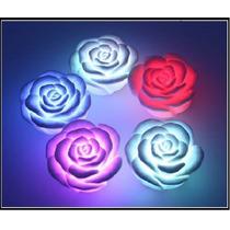 Vela Led Flotante Con Forma De Rosa Con Pilas Incluidas