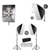 Kit Iluminação Estúdio C/ Softbox 50x70 110v
