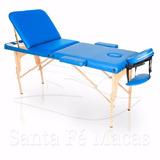 Mesa Maca De Massagem Dobrável Divã Portátil Estética Azul R