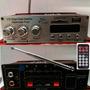 Mini Modulo Amplificador Usb Sd Radio Fm Canais Ma 120