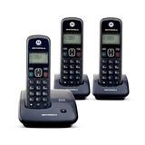 Telefono Inalambrico Motorola Auri2000-3 Triple Hanset Negro