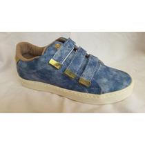 Zapatos Con Cierre Magico Tres Correas.