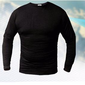 Camiseta Termica Forest Negro Bamboo Organico Hombre Dama
