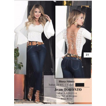 Jeans Mujer Dama Levantacola Blusas De Moda