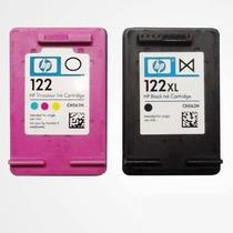 Kit Cartuchos 122 Hp Xl Com 30 Ml (preto E Colorido) + Brind