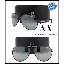 Armani Exchange Aviator Ax2017s - Matte Black -silver Mirror