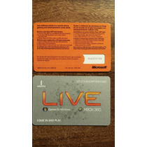 Membresias Xbox Live 1 Mes Gold 360 Y One Entrega Inmediata