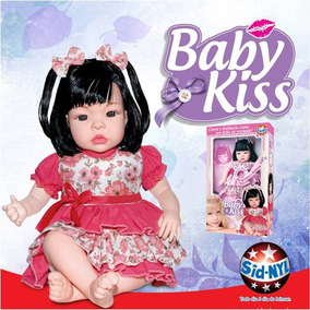 Boneca Baby Kiss Chora E Balbucia Como Bebê Sid Nyl