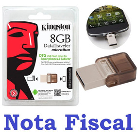 Pen Drive Kingston Dtduo Micro Duo 8gb P/ Celular Smartphone