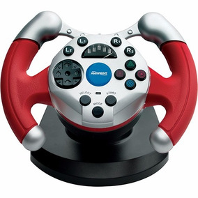 Volante Ps2 Dual Shock 2 Racing Maxprint Promoção