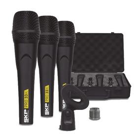 Combo Microfono X3 Valija Skp Pro 33k // Cinema