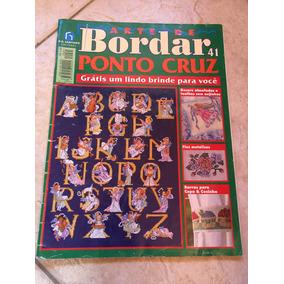 Revista Arte De Bordar Ponto Cruz 41 Fios Metálicos Barras