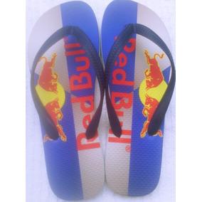 Chinelo Sandália Personalizado Red Bull