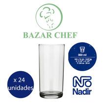 Nadir Vaso Trago Largo Cylinder 350 Ml Caja X 24 Bazar Chef