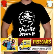 Camiseta Charlie Brown Jr Camisa Banda Rock Skate Nirvana Rh