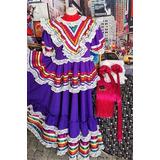 Traje De Jalisco Lujo Niña Todos Los Colores - Envío Grátis