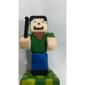 Adorno De Torta De Porcelana Para Torta De Minecraft