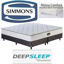 Sommier Y Colchon Simmons Deepsleep Resortes 100 X 200