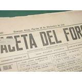 Diarios 50 Antiguos Diarios La Gaceta Del Foro Decada Del 20