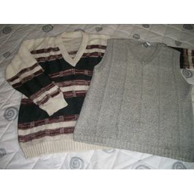 3 Prendas...2 Sweters De Punto Más 1 Chaleco Sin Mangas