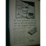 Publicidad Antigua Clipping Chocolate Noel Golosina Especial