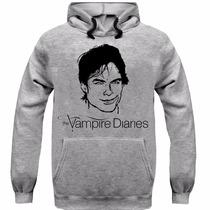 Moletom Damon The Vampire Diaries Ótima Qualidade Promoção