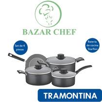 Tramontina - Batería Set Juego Teflon Turim 7pz - Bazar Chef