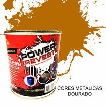 Power Revest,envelopamento Liquido Dourado Metalico Lata 1/4