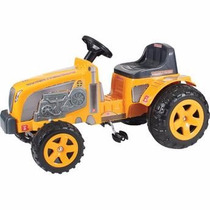 Mini Veiculo Trator Fazendeiro Farmer Amarelo Pedal