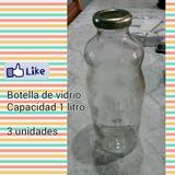 Frascos De Vidrio Tipo Botella De 1litro Con Tapa. 5000bs