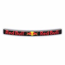 Adesivo Sticker Viseira Capacete Red Bull Resinado