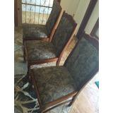 Cadeiras De Madeira De Cerejeira Com Estampa. Lindas!!