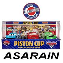 Disney Cars Piston Cup - Mcqueen King Rei Chick Hicks 1/50