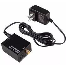 Convertidor De Audio Digital Tsm Óptico A Rca Y Coaxial