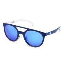 Óculos De Sol Adidas Originals Azul E Branco Lente Azul