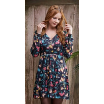 Vestido Antix Floral Bordado - 80142 ( Col. Casa Na Árvore )