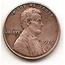 Moneda Estados Unidos 1 Centavo Año 1975 # One Cent