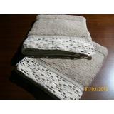 Toalla Con Terminaciones Al Crochet Con Motivo Guarda Pampa.