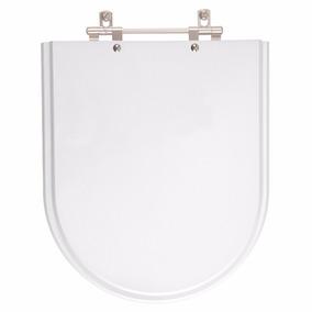 Tampa De Vaso Poliester Carrara Branco Para Bacia Deca