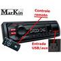 Radio Automotivo Mp3 Play Fm Sony Xplod Entrada Aux 50w