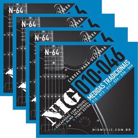 12 Encordoamento Jogo Cordas Nig N64 010-046 Níquel Guitarra
